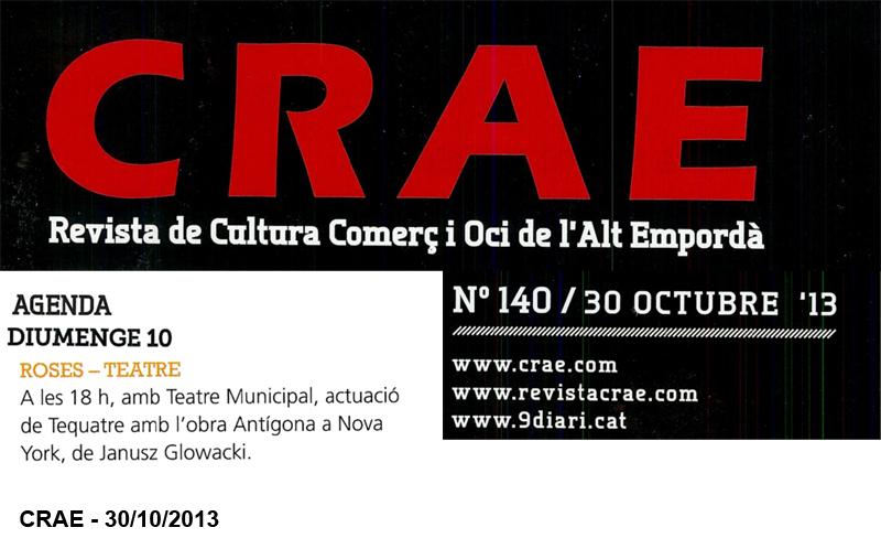 13-10-30 CRAE - Tequatre - Antigona a NY - Roses - P